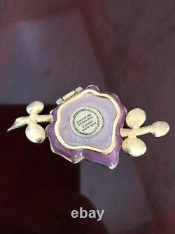 Estee Lauder Sensuous Vibrante Violet Perfume Solide Compact Par Jay Strongwater