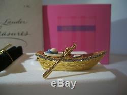 Estee Lauder Solid Parfum Compact 2002, Promenade En Bateau, Menthe Dans Les Deux Boîtes Pleines