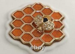 Estee Lauder Solid Perfume Compact Honey Comb Mib