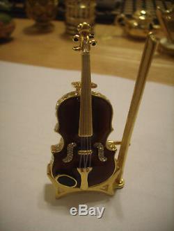 Estee Lauder Solid Perfume Compact Violon Dans Les Deux Boîtes