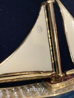 Estee Lauder Sparkling Sailboat Compact Pour Les Parfums Solides De La Collection 2007