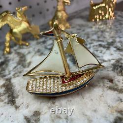 Estee Lauder Sparkling Sailboat Compact Pour Parfum Solide 2007 Collection Rare