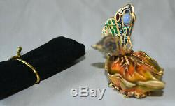 Estee Lauder Strass Papillon Feuille Parfum Solide Compact Jay Stronger 2003