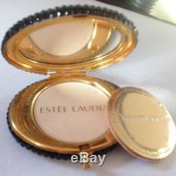 Estee Lauder Strass Rare Vintage Salamandre Lucidité Poudre Compacte Jeweled