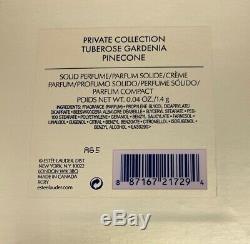 Estée Lauder Tubéreuse Gardenia Pinecone Parfum Solide Compact 2015 Nib