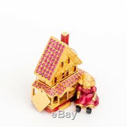 Estee Lauder Victorienne Dollhouse Solide Parfum Compact Les Deux Boîtes Mint Mib
