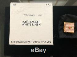 Estée Lauder White Linen Parfum Solide Petit Four Compact, Nouveau Dans Les Deux Boîtes
