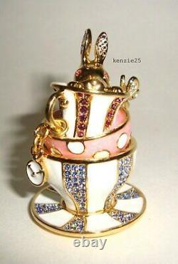 Estee Lauder Wonderland Tea Party Solid Perfume Compact 2018 Tasse À Thé Vide Ub