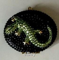 Gecko Vert Cristal Swarovski Estee Lauder Sur Compact Noir Lucidity