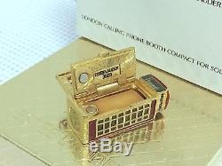 Harrods 1/400 Estee Lauder London Téléphone Parfum Solide Vtg Compact Rare