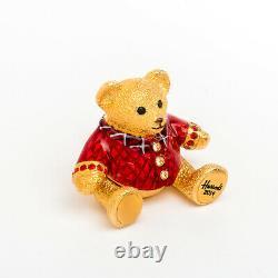 Harrods Christmas Bear Estee Lauder Solid Perfume Compact Limited Edition 2014 Harrods Christmas Bear Estee Lauder Solid Perfume Compact Limited Edition