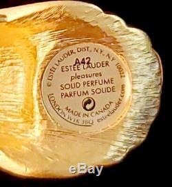 Htf & Rare Estee Lauder Peacock Parfum Solide Compact 2003 Complet & Unused