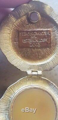 Jay Strongwater Estee Lauder Parfum Compact Champignon Escargot Figurine Boîte Enamel