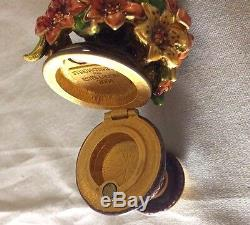 Jay Strongwater Pour Estee Lauder 2004 Lily Bouquet Collection Compact
