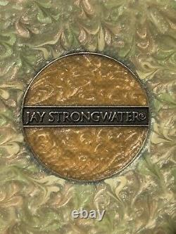 Jay Strongwater Pour Estee Lauder Double Miroir Compact Bumble Bee Sur Une Fleur