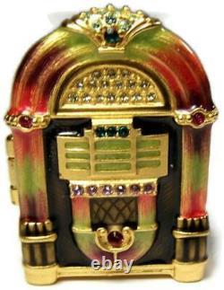 Jay Strongwater Pour Estée Lauder Jukebox Parfum White Linen Compact Inutilisé