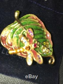 Jay Strongwater Pour Estee Lauder Magical Leaf Compact Parfum 2009 Nib