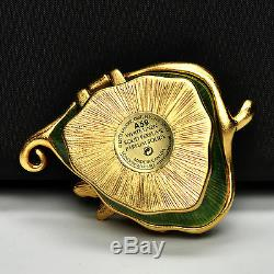 Jay Strongwater Pour Estée Lauder Magique Leaf Parfum Solide Compact 2009 Nib