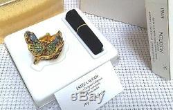 Jay Strongwater Pour Estee Lauder Papillon Massif Solide Compact Dans Des Boîtes Orig