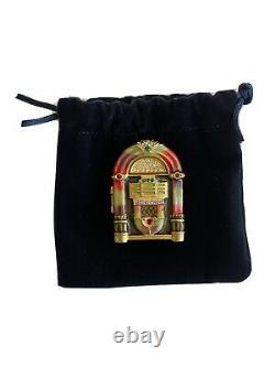 Jay Strongwater Pour Estée Lauder Solid White Linen Parfum Compact Jukebox