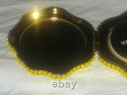 Jg-094 Estee Lauder Rose Jaune De Texas Lady's Powder Compact Vintage