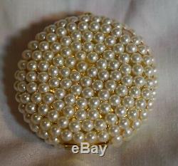 Jg-094 Estee Lauder Wedding Day Avec Perles Poudre Compacte Utilisée Dans L'encadré Vintage