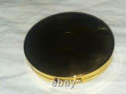 Jg-138 Estee Lauder Jeweled Lady's Powder Compact Vintage Ovale Très Joli