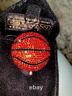 Kathrine Baumann Estee Lauder Swarovski Crystal Basketball Powder Compact Ora