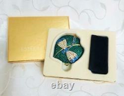 Ltd Edition Estee Lauder Allthe Buzz Dragonfly Swarowski Crystals Powder Compact