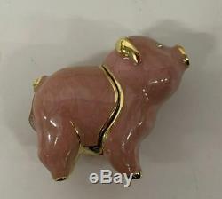 Nib Complet 1998 Estée Lauder Belle Belle Pig Compact Parfum Solide