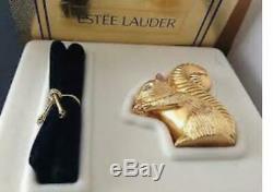 Nib Complet 1998 Estée Lauder Connaître Ecureuil Parfum Solide Compact Original Box
