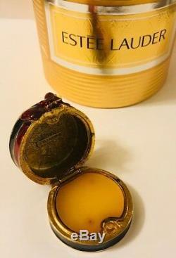 Nib Complet / Non Utilisé 1998 Estee Lauder Boîte À Chapeau De Style Élevé Pleasures Parfum Solide