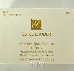 Nib Estee Lauder De New York Esprit D'apple Strass Poudre Miroir Drapeau Compact États-unis