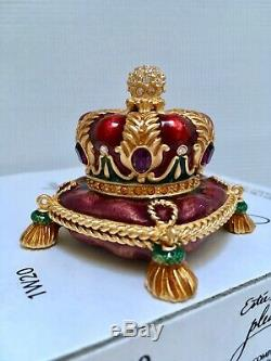 Nib Estee Lauder Jay Strongwater Crown Solide Parfum Compact Orig. Des Boites