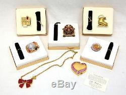 Nib Estée Lauder Parfum Compact Collectibles 7 Pièces Withorig Boîtes