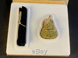 Nib Estee Lauder Parfum Solide Compact Jeweled Poire En Cristal Belle Parfum