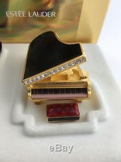 Nib New 2000 Estee Lauder Beautiful Black Bébé Piano À Queue Solide Parfum Compact