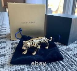 Nib New Estee Lauder Solid Perfume Compact Year Of Tiger 2009 Belle