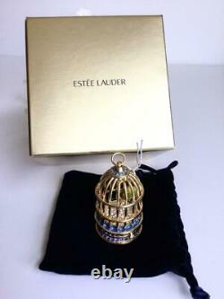 Nib Rempli 2015 Estee Lauder Golded Birdcage Tuberose Parfum Compact