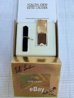 Nibb Estee Lauder Repousse Dore Cameo Solide Parfum Compact Jeunesse-dew