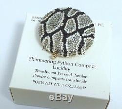 Nouvel Estee Lauder Pydon De Python Shimmering Compact In Orig. Box Rare Bnib Mib