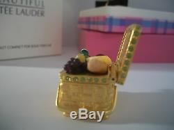 Panier De Pique-nique Compact Parfum Compact 2002 Estee Lauder, Neuf Dans Les Deux Boîtes Pleines