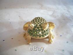 Parfum Solide D'estee Lauder Compact Jeweled Prince Charming Frog 1997 Beautiful