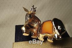 Parfum Solide Estee Lauder Compact Bejeweled Elephant 2005 Nouveaux Coffrets + Carte Rare