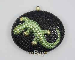 Presse À Sertir Lucidity Jeweled Salamander De Estee Lauder Power Compact Nib