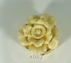 Prototype 1980 Estee Lauder White Christmas Camellia Solid Parfum Compact