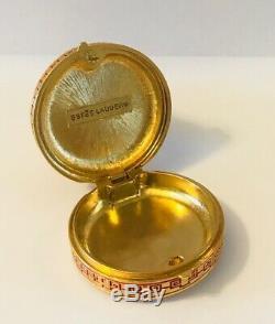 Rare1981 Estee Lauder Cinnabar Ivory Series Imperial Princess Parfum Solide