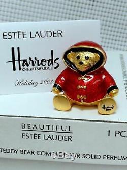 Rare 1/400 Estee Lauder Harrods William Ours Solide Parfum Compact Orig. Des Boites