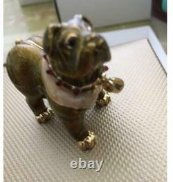 Rare 2005 Harrods / Estée Lauder English Bulldog Parfum Solide Compact