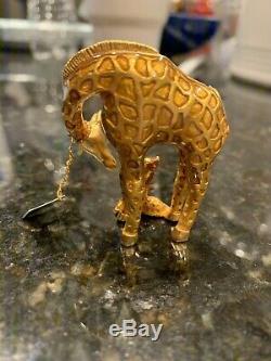 Rare Estee Lauder 2002 Gilded Girafe Parfum Solide Compact- Pleine, Avec L'étiquette